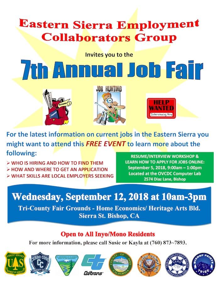 7th Annual Job Fair – September 12, 2018 – Bishop TERO
